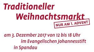 Traditioneller Adventsmarkt im Evangelischen Johannesstift 2017