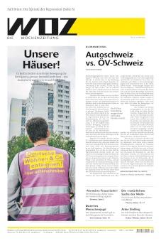 Mit Klemmbrett und lila Weste Konzerne enteignen – WOZ Die Wochenzeitung